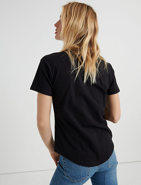 BASIC CREW NECK TEE, 001 LUCKY BLACK