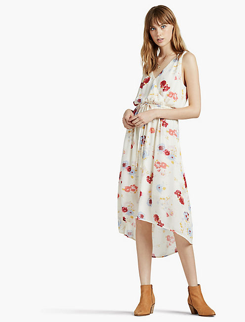 FLORAL PRINTED MAXI DRESS,