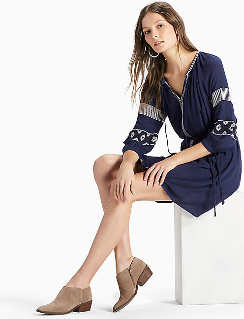 BOHO SLEEVE DRESS, AMERICAN NAVY