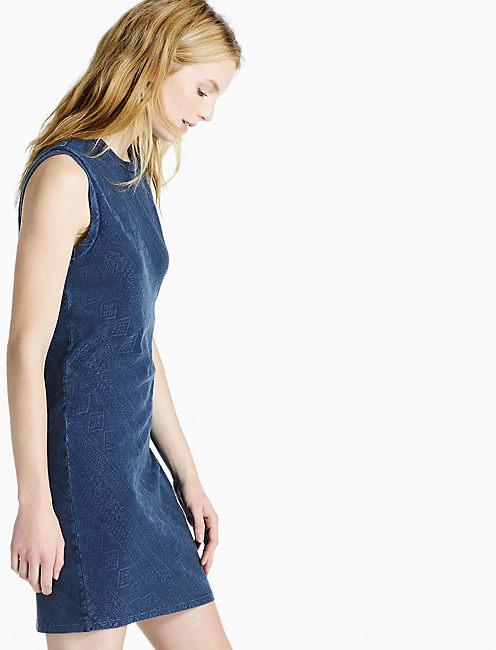 INDIGO KNIT DRESS, # 419 INDIGO