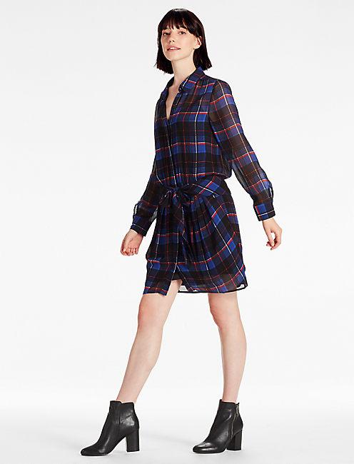 TIE SHIRT DRESS,