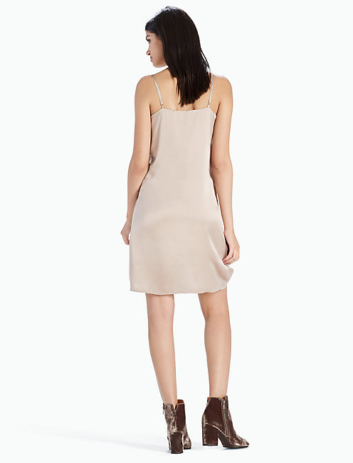 SLIP DRESS, CHAMPAGNE