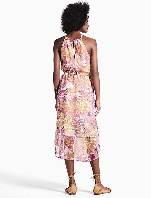 PALM PRINT DRESS,