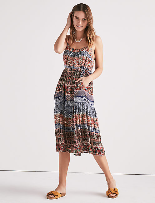 MIXED PRINT DRESS,