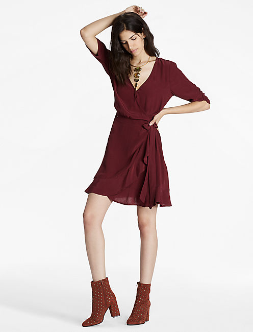 WRAP DRESS, port royale