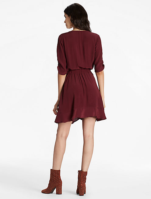 WRAP DRESS, port royale