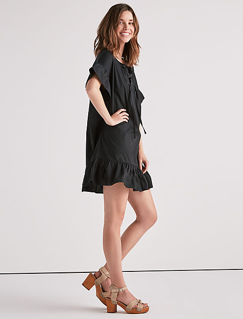Lucky Lace Up Dress