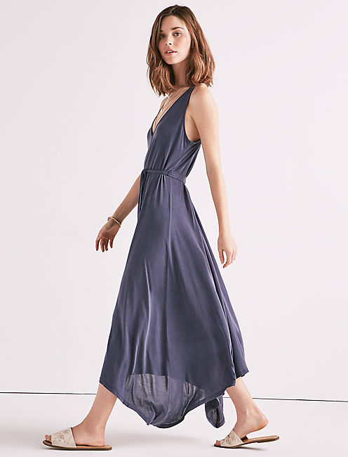 Sandwash V Neck Maxi by Lucky Brand