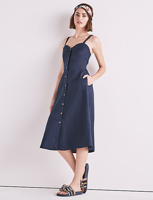BUTTON FRONT DRESS,