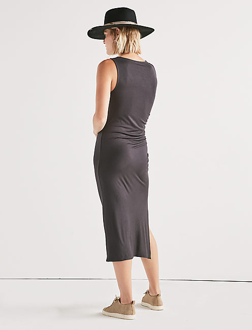 RUCHED TANK DRESS,