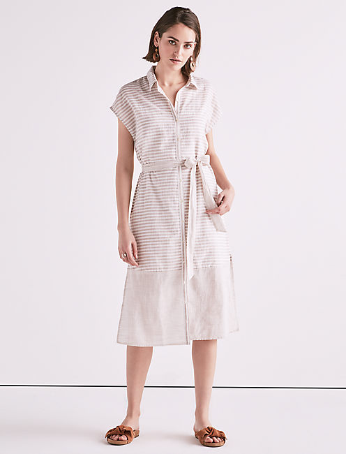 Lucky Stripe Shirt Dress