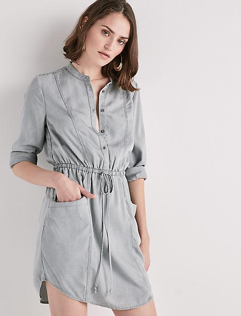 TENCEL SHIRT DRESS,