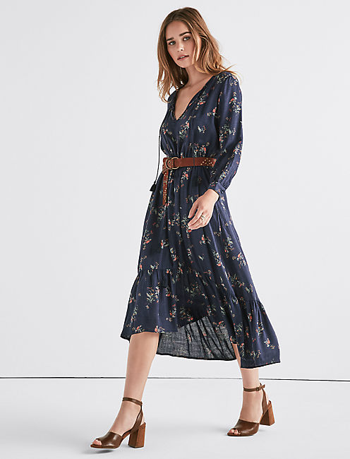 Lucky Printed Puff Sleeve Dress