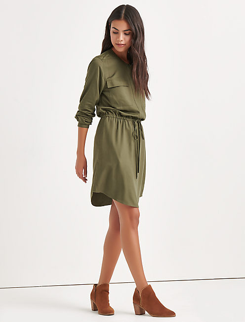 JACQUARD SHIRT DRESS,