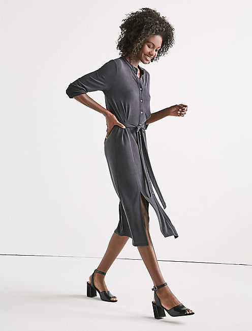 SANDWASH SHIRT DRESS,
