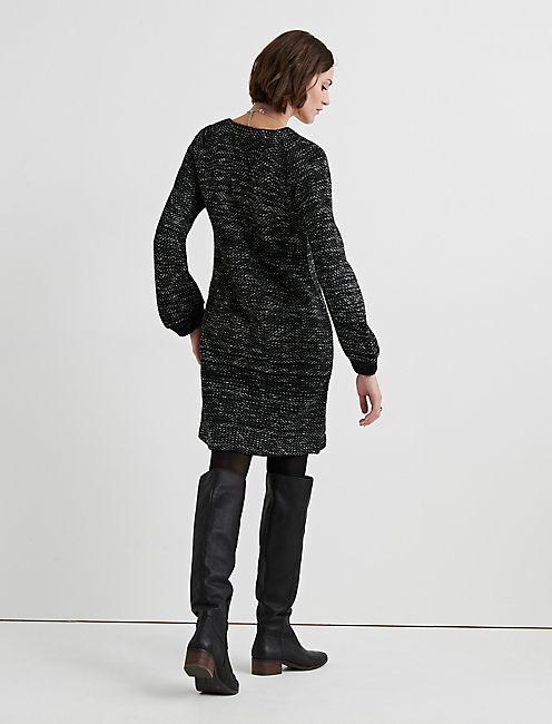 SWEATER SHIFT DRESS,