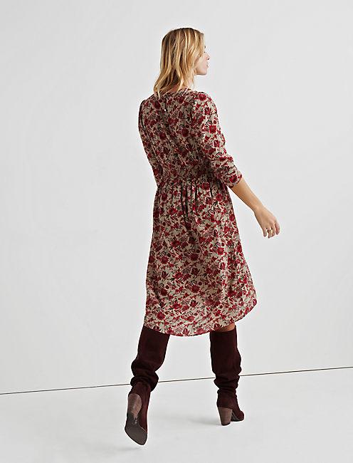 BOLD FLORAL DRESS,