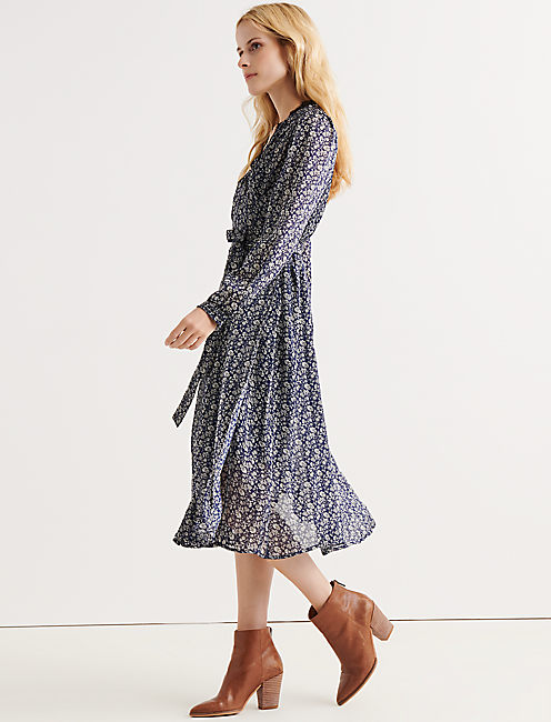 Lucky Printed Wrap Dress