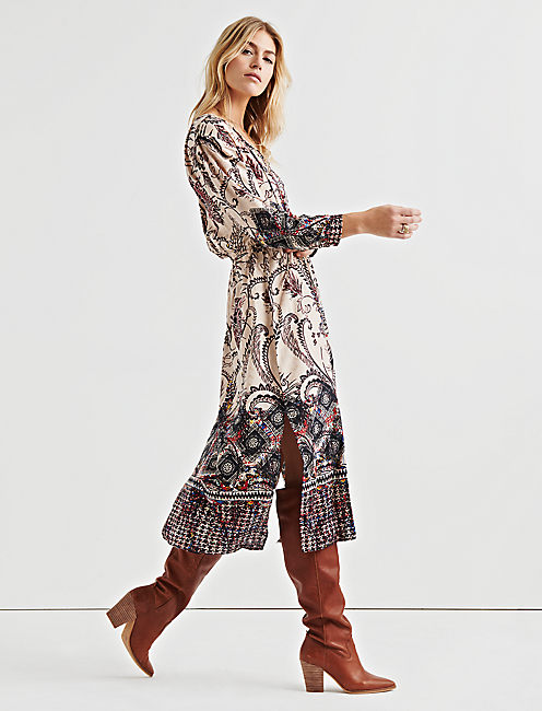 Lucky Lisa Border Print Dress
