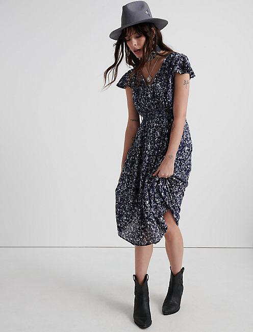 SMOCKED WAIST DRESS,