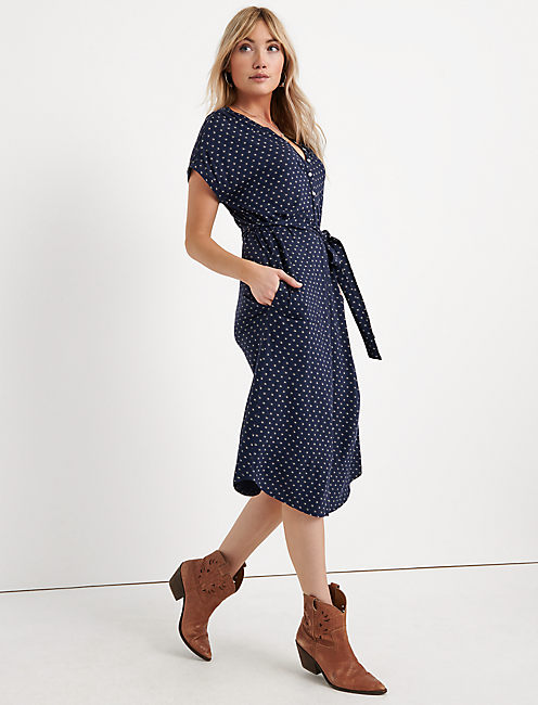 Knit Henley Dress