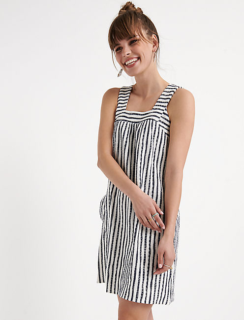 Stripe Textured Tank Dress