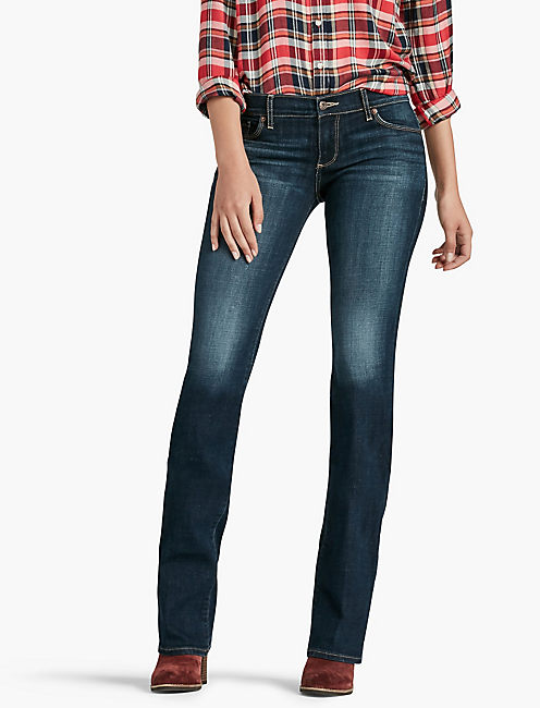 SWEET MID RISE BOOTCUT JEAN IN LINDEN, LINDEN