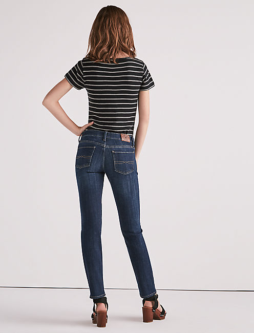 Lucky Sweet Mid Rise Straight Leg Jean In Agate