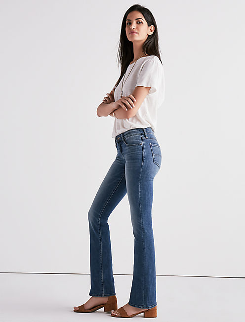 Lucky Sweet Mid Rise Bootcut Jean In Blue Jet