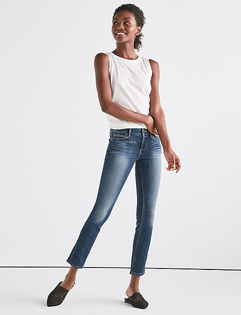 Lucky Lolita Mid Rise Skinny Jean In Lake Bridgeport