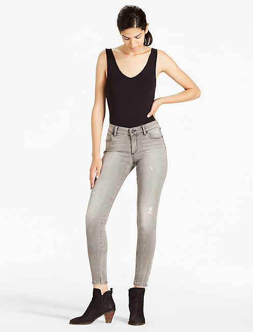 Lucky Sasha Super Skinny Mid Rise Legging Jean In Lonesome