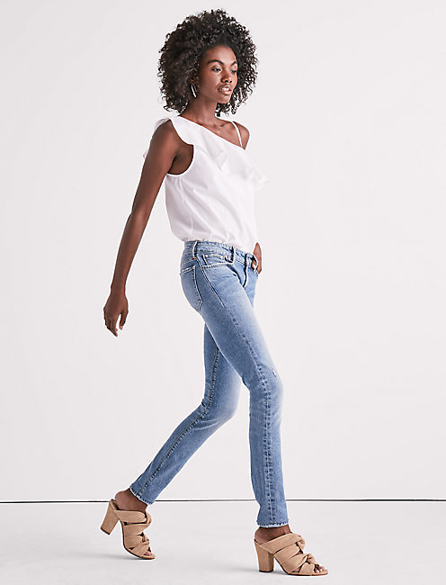 Lucky Stella Low Rise Skinny Jean In West Valley