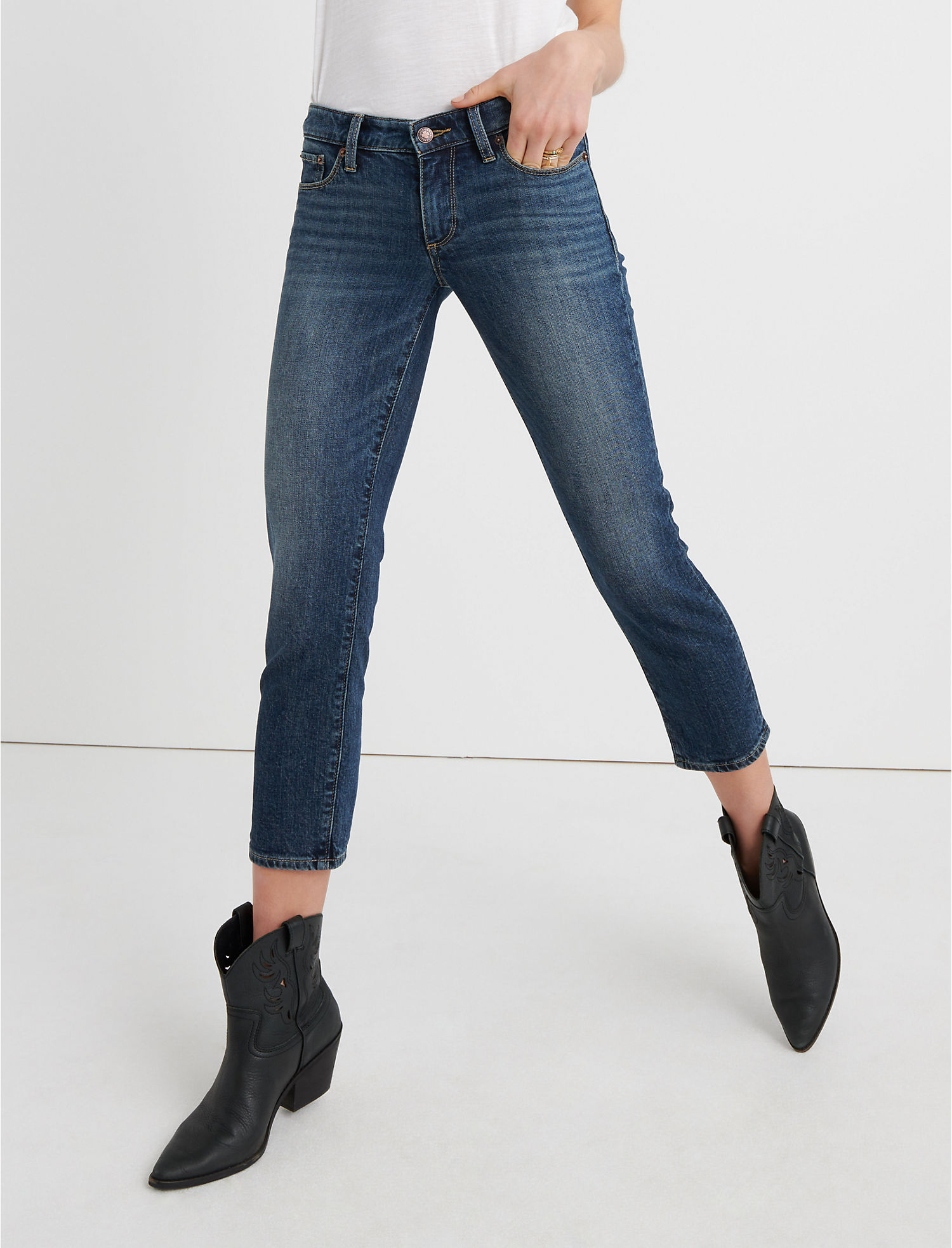 Sweet Mid Rise Crop Jean In Timber Lakes | Tuggl