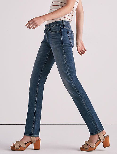 Sweet Mid Rise Straight Jean,