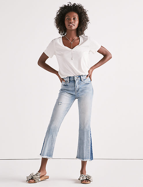 Lucky Bridgette Cropped Flare Jean In Mayfield