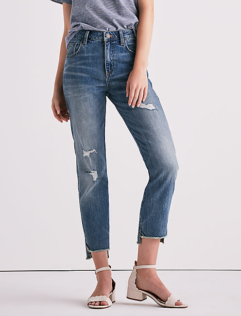 HIGH RISE TOMBOY JEAN IN SAFFORD STEP HEM, SAFFORD STEP