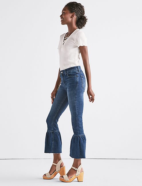 Lucky The Shrunken Ruffle Flare Jean