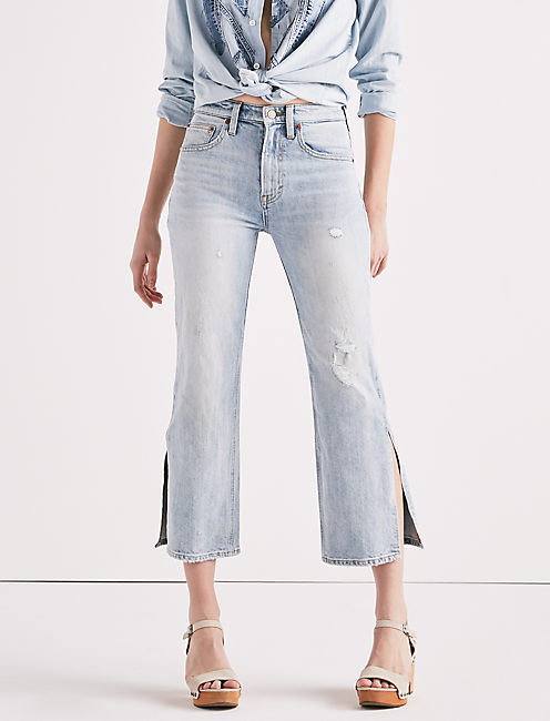 LUCKY PINS HIGH RISE SIDE SLIT JEAN IN MIRA MAR,