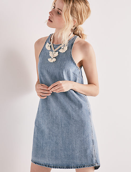 Snap Back Denim Dress by Lucky Brand