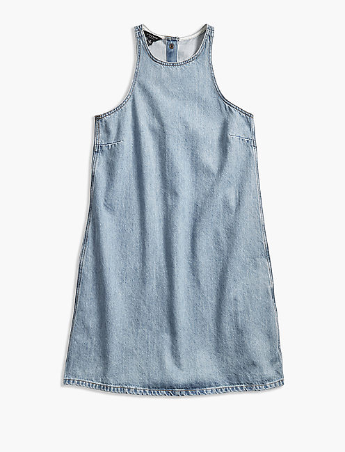 SNAP BACK DENIM DRESS,