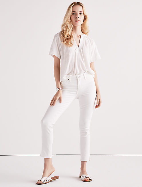 AVA SKINNY JEAN WITH FINISHED SIDE SLIT HEM,