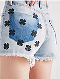LUCKY PINS HIGH RISE SHORT WITH CLOVER EMBROIDERY,