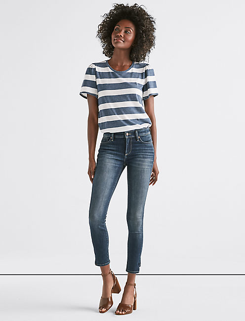 Lucky Stella Low Rise Skinny Jean With Hem Dart