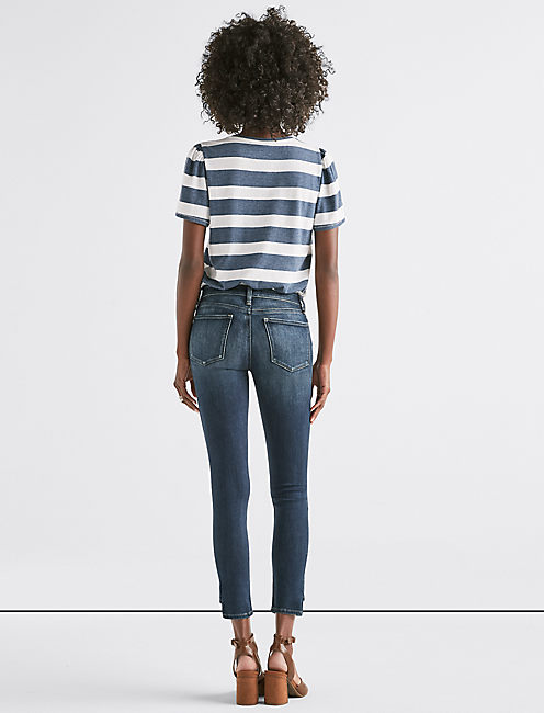 Stella Low Rise Skinny Jean with Hem Dart,
