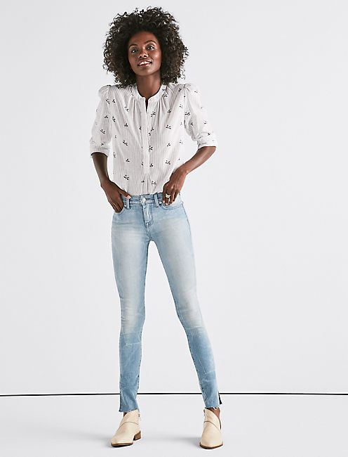 Lucky Ava Mid Rise Skinny Jean With Vent