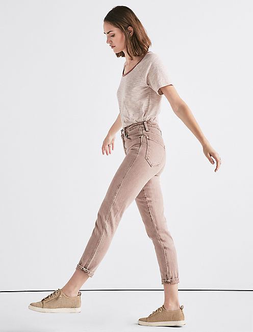 Lucky The High Rise Tomboy Jean In Cadoux Pink