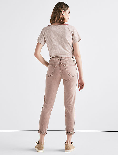 The High Rise Tomboy Jean in Cadoux Pink,