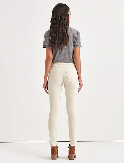 Ava Mid Rise Skinny Corduroy Pant, BIRCH