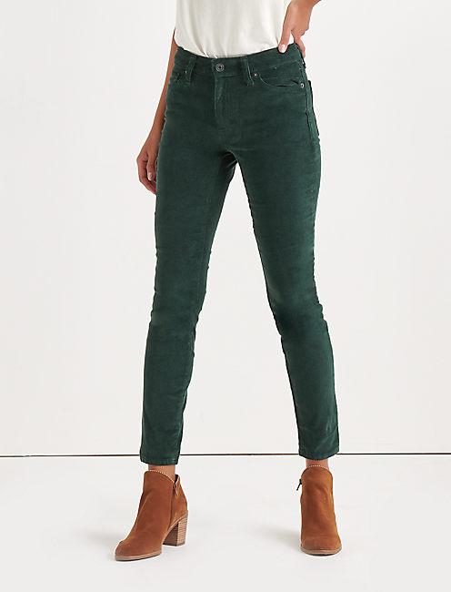 Ava Mid Rise Skinny Corduroy Pant,