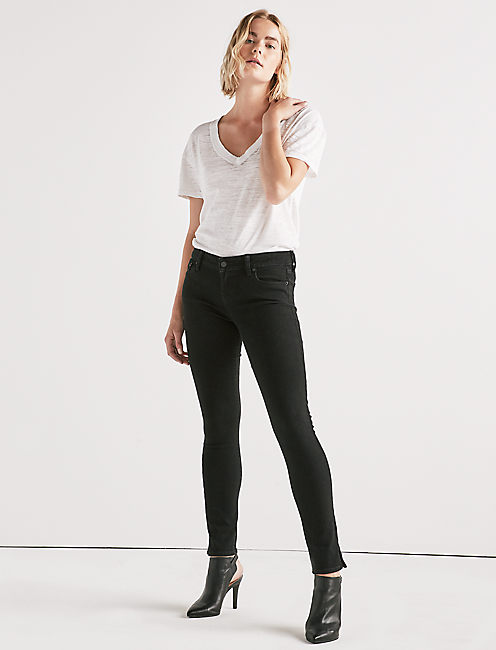 Lucky Lolita Mid Rise Skinny Jean With Vent